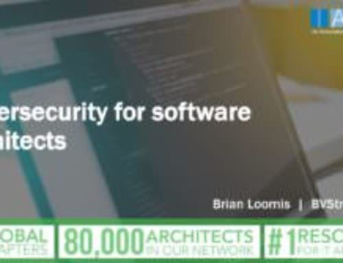 Cybersecurity for software architects